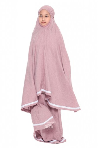 Telekung Rania in Blush Pink