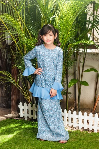Sophie Bow Kurung in Sapphire Blue