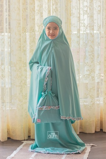 [PRE-ORDER] Telekung Hanna in Teal Turquoise