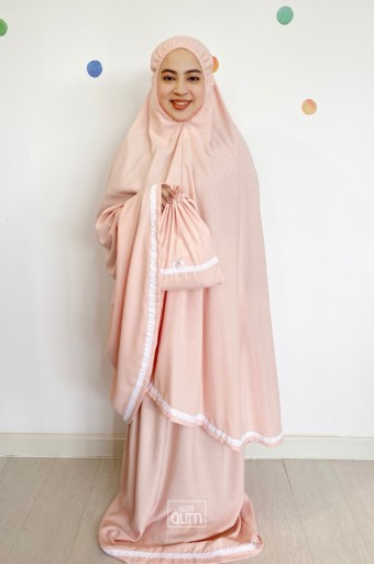 Telekung Rania Adult in Candy Peach