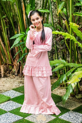 Naomi Kurung in Rose Peach