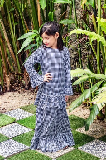 Naomi Kurung in Navy Blue