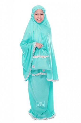 Telekung Hanna in Teal Turquoise