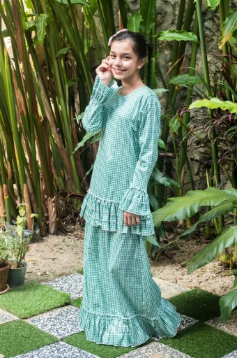 Naomi Kurung in Sage Green