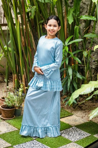 Naomi Kurung in Baby Blue