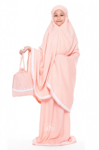 Telekung Rania in Candy Peach