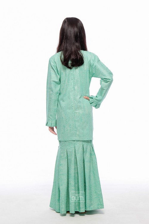 Maya Kurung Pleated in Ariel Green