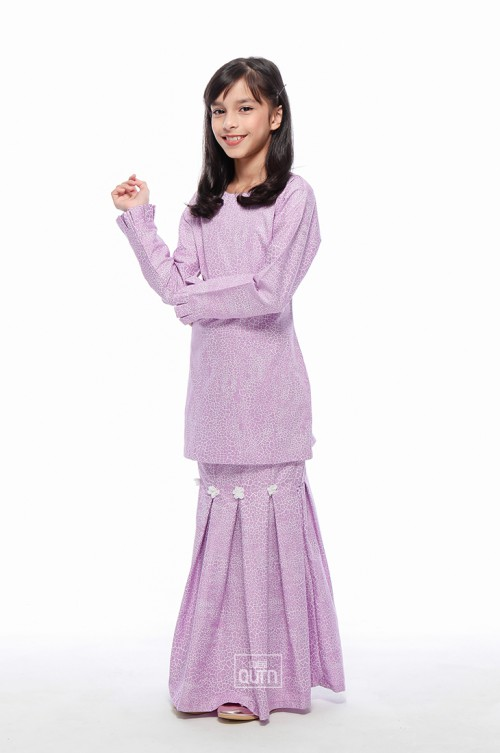 Maya Kurung Pleated in Rapunzel Purple