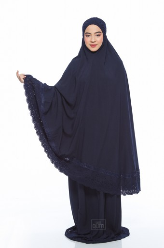 Telekung Safiyya Premium in Dark Blue
