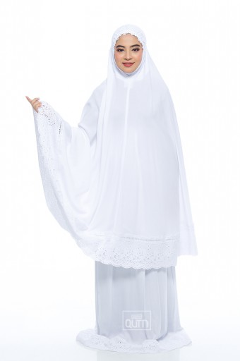 Telekung Safiyya Premium in Off White