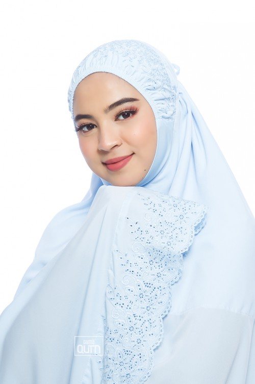Telekung Balqis in Sky Blue