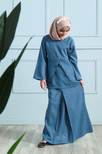Arianna Kurung in Twilight Blue