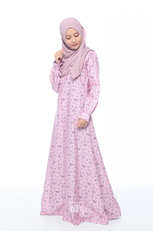 Jubah Lily in Lilac Purple