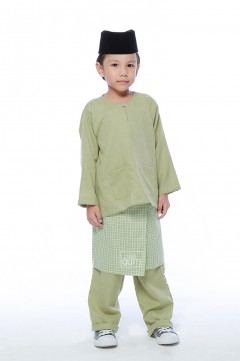 Harraz in Apple Green With Instant Samping