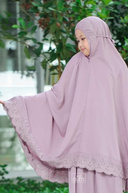 Telekung Balqis kids Dusty Purple