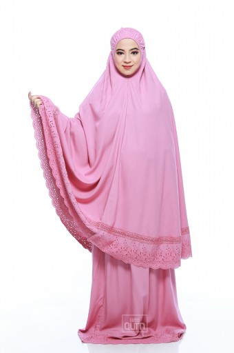 Telekung Safiyya Premium in Dusty Pink