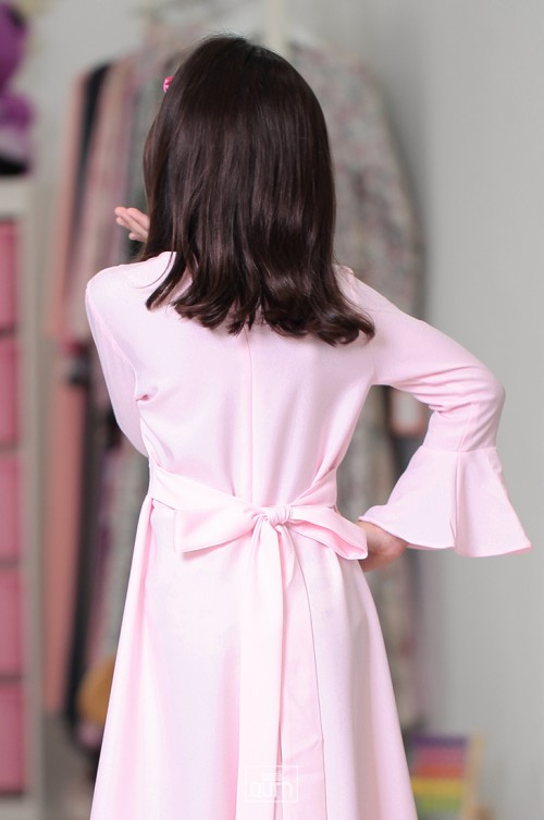 Camilla Embroidery Dress in Soft Pink