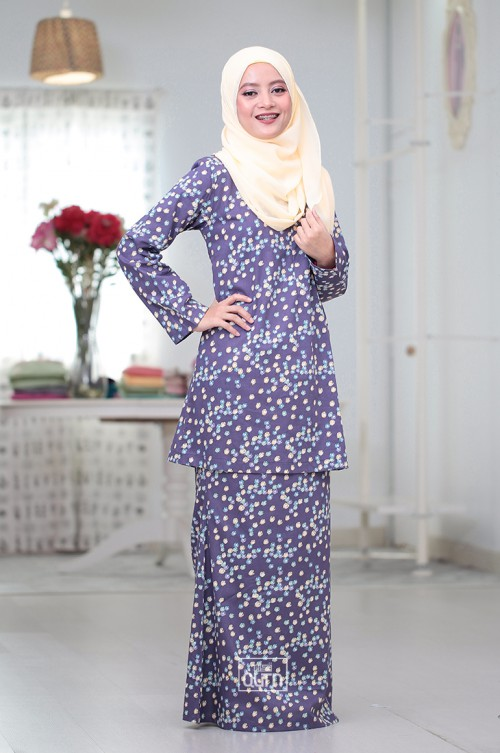 Tulip Kurung Moden in Grape Purple