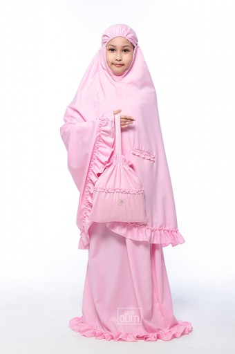 [PRE-ORDER] Telekung Ruffles in Blossom Pink