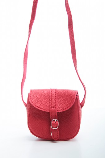 Mini Long Strap Bag in Red