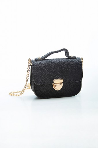Mini Chain Bag in Black