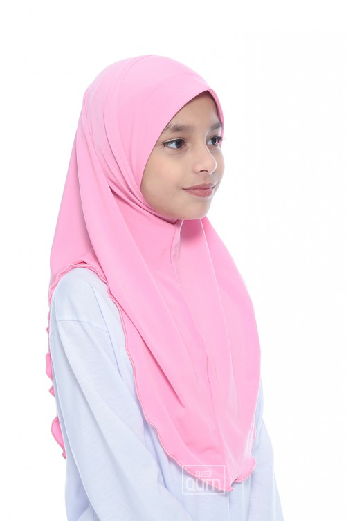 Instant Shawl Syria Ruffle in Cupcake Pink