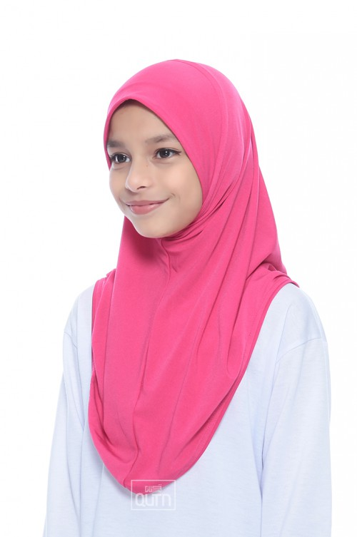 Instant Shawl Syria Plain in Hot Pink
